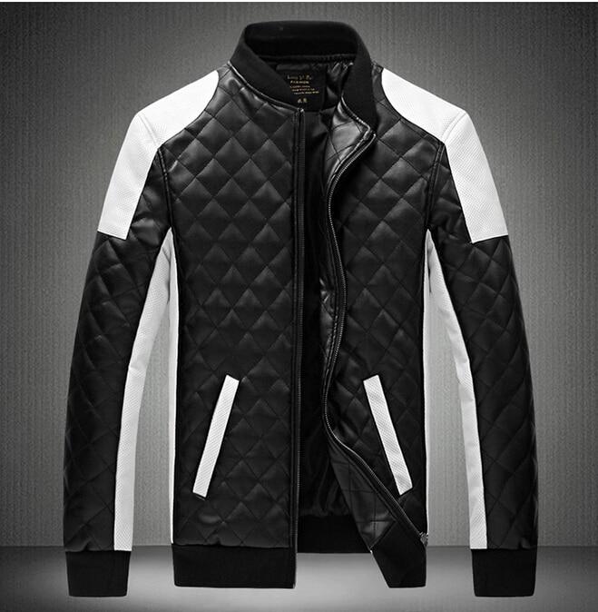 Marca de moda de lazer dos homens cultivar a moralidade novo autêntico splicing fertilizantes plus-size casaco de couro. M-6 xl (650)