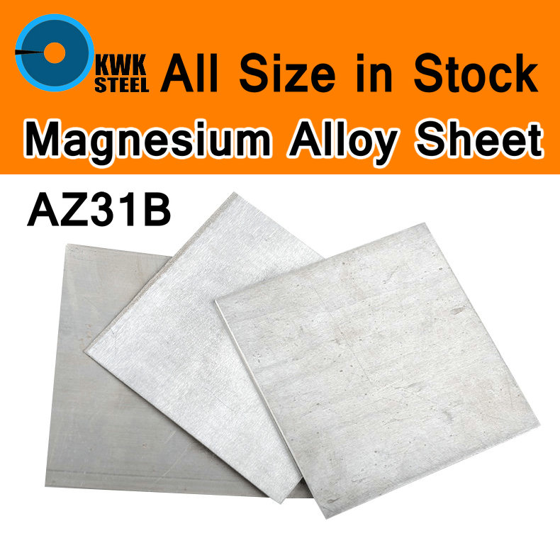 AZ31B Magnesium Alloy Sheet Mg Plate Flat Electroplating Anodes Experiment Anode CNC Machine Mould Metal Process All Size