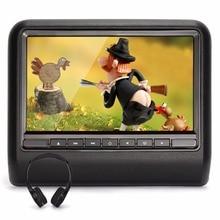 Pumpkin Common 10.1 Inch TFT LCD Vast Digital Display screen Common Automotive Headrest DVD Participant Multimedia Monitor-Black + Headphone