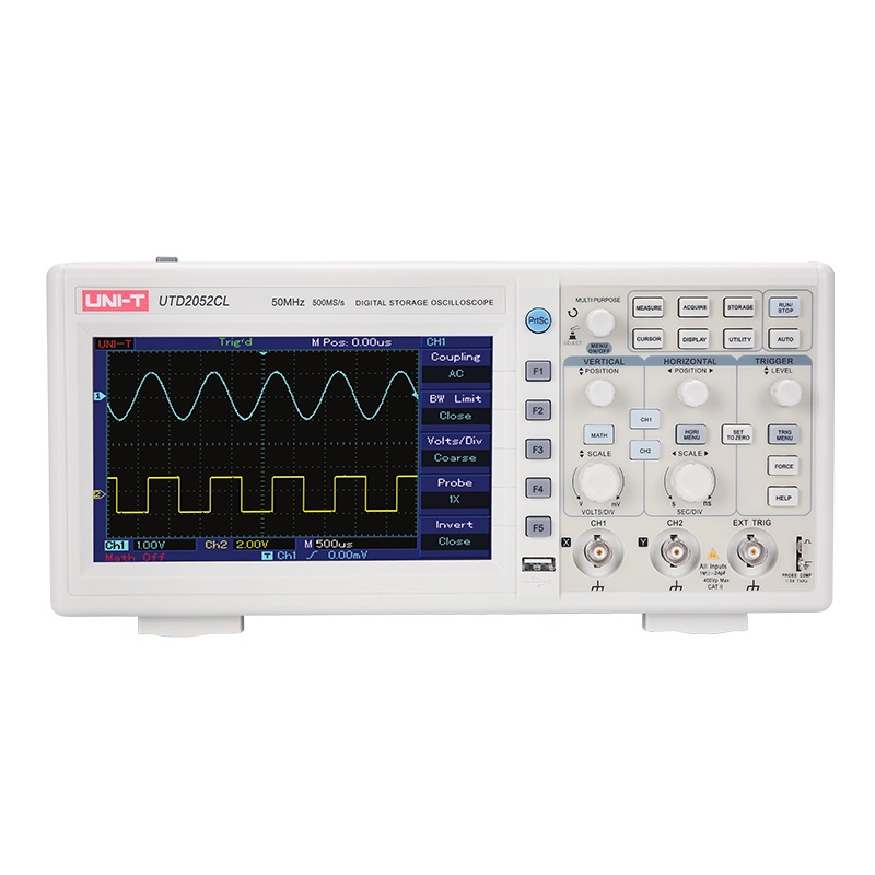 UNI-T UTD2052CL Digital Oscilloscopes 7 inch LCD Display USB interface 2CH 50MHZ Scopemeter Scope meter uni t utd2102cex utd2052cex utd2025cl utd2052cl digital storage oscilloscopes scopemeter scope meter usb tester free 7 inches