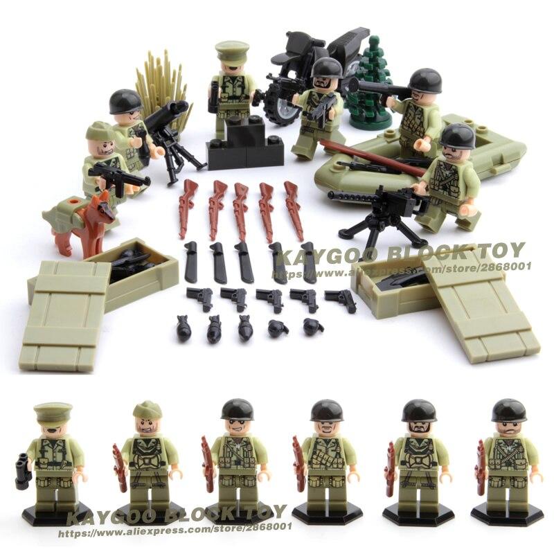 514.99руб. |Армейский бренд ВВ2 США, «Битва за Нормандию», «Commando», строительный блок, маленькая игрушечная фигурка с пистолетом|brick army|blocks army|block figure - AliExpress
