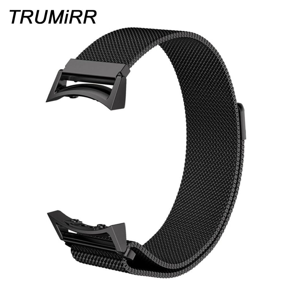 Milanese Regarder En Boucle Bande avec Adaptateurs pour Samsung Vitesse S2 SM-R720/SM-R730 Inoxydable Bracelet En Acier Magnétique Boucle Ceinture Bracelet