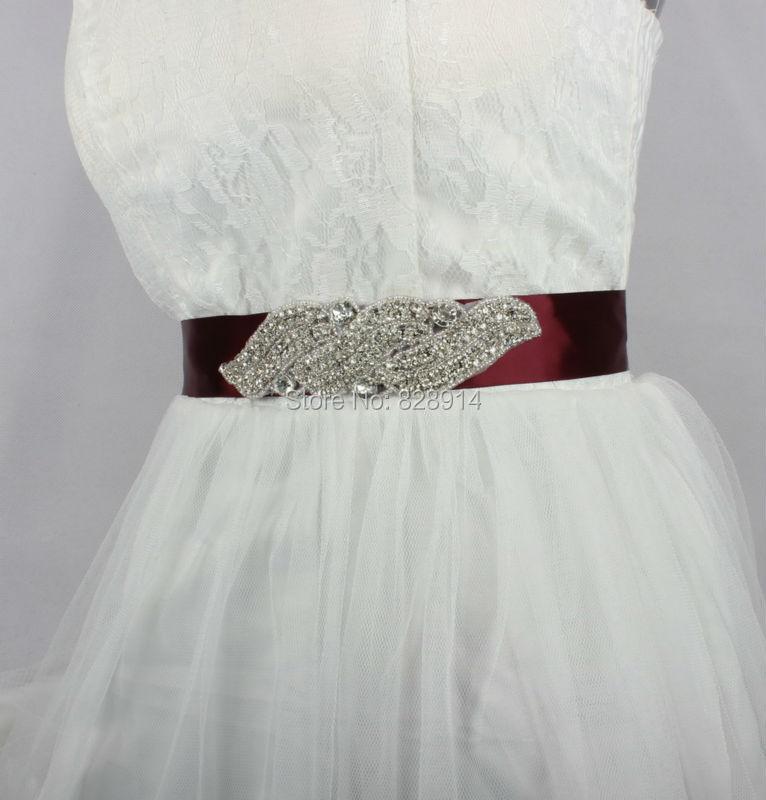 Crystal Women Wedding Ribbon Sash Belt