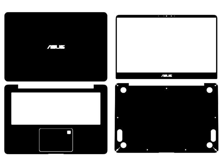 Laptop Carbon fiber Skin Sticker Guard Protector For ASUS G75 G75VW G75VX
