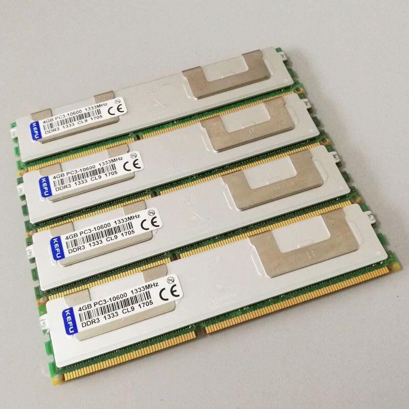 16GB 4X4GB PC3-10600R DDR3 1333mhz RAM 2RX4 ECC Memory REG Registered sever memory 240PINS samsung server memory ddr3 8gb 16gb 1600mhz ecc reg ddr3 pc3 12800r register dimm ram 240pin 12800 8g 2rx4 x58 x79