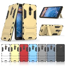 Stand Function Case for Nokia 7 Plus Cover Shockproof Soft TPU Cases Protector Bumper Shell Back Guard For Nokia 7 Plus 7plus