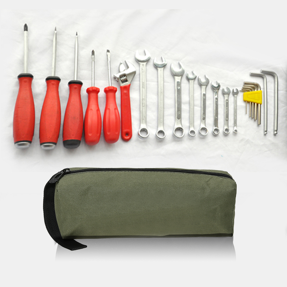 1Pcs Oxford Canvas Waterproof Tools Bag Instrument Case For Screws Nails Drill Bit Multifunctional With Carrying Handles Strip