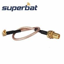 Superbat RF коаксиальный кабель RP-SMA разъем(разъем) для MC карта разъем соединительного кабеля для варианта беспроводной 15 см