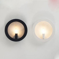 Round wall lamp modern simplicity Nordic creative art lighting corridor aisle bedroom living room study lighting fixture