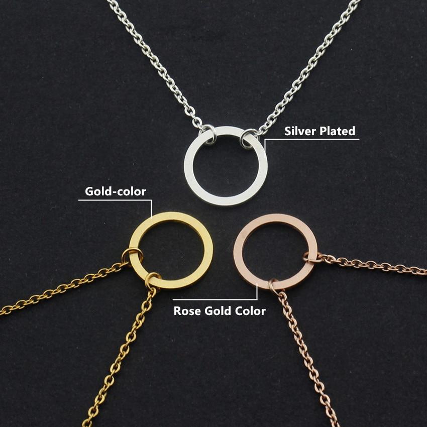 V locka vintage öppen cirkel rose guld charm armband för kvinnor - Märkessmycken - Foto 3