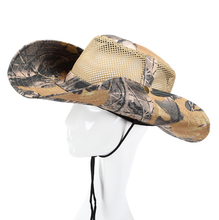 AOTU Military Camouflage Bucket Hats Bonnie Hat Camo Fisherman Hats With Adjustable Ropes Wide Brim Fishing Camping Hunting Cap