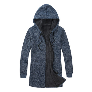Image 4 - BOLUBAO Brand Men Cardigan Sweaters Coats Casual Slim Fit Plus Velvet Mens Sweaters Winter New Male Hooded Knitting Sweaters