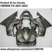 ABS plastic fairings for Honda CBR 600 F4i 2001 2002 2003 grey fairing kit CBR600F4i 01 02 03 OL115