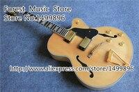 Nuovo arrivo in legno naturale l-ces jazz guitars elettrica e il classico strumento dalla fabbrica della cina