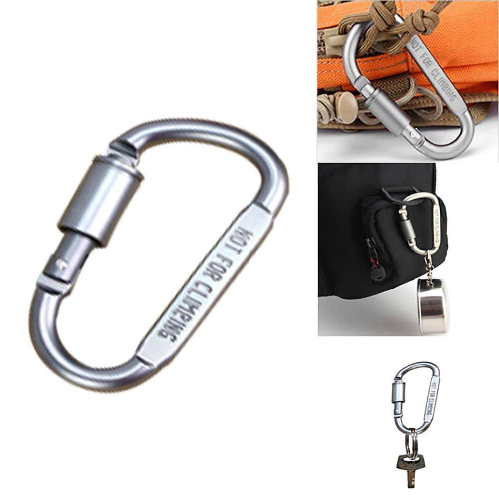 20Pcs Carabiner Hook Outdoor Clip Ring Locking Belt Key Buckle Hanging  Aluminum