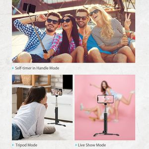 Image 3 - BlitzWolf BW BS9 All In One Mini bluetooth Selfie Stick Monopod Tripod Integrated Detachable Tripods Selfie Sticks for Iphone