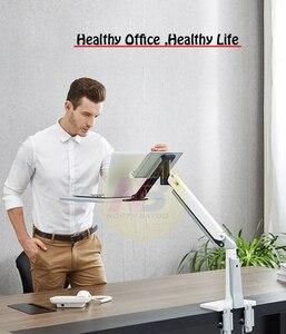 Image 3 - NB FB17 Full Motion siedzieć stojak na laptopa wsparcie składany ramię sprężyny gazowej 11 17 cal uchwyt na laptopa stojak na notebooka z podstawką na klawiaturę do montażu na