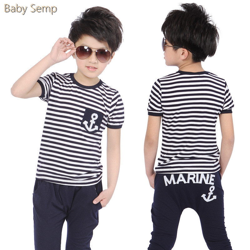 boys clothes summer 2017 fashion baby boy shorts kids infant clothing striped navy blue toddler kids