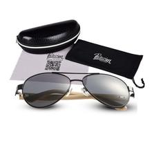 PATEZIM Vintage Wood Aviator Sunglasses Women Bamboo Sun Glasses Men Brand Designer Outdoor Fishing punk gg lentes de so