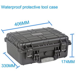 High quality Waterproof tool case toolbox Protective Camera Case Instrument box suitcase with pre-cut foam lining  371*258*152mm
