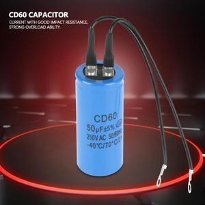 1 шт. CD60 конденсатор с проводом 250 В переменного тока 50 мкФ 50/60 Гц конденсатор для воздушного компрессора