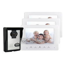 FREE SHIPPING BRAND 7″ Color Screen Video Door phone Doorbell Intercom 1 Waterproof Door Bell Camera 3 White Monitor WHOLESALE
