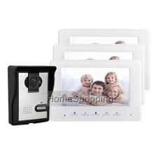 FREE SHIPPING BRAND 7 Color Screen Video font b Door b font phone Doorbell Intercom 1