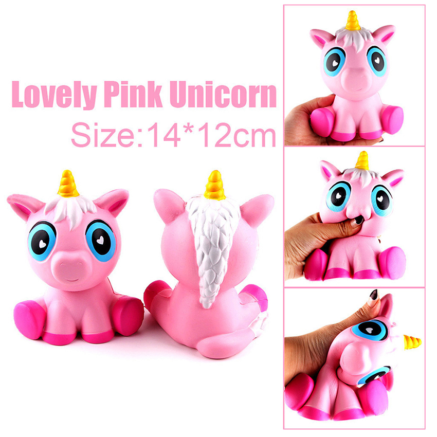 11cm Colorful Unicorn Squishy Phone Straps Toy Anti-stress Slow Rising Kids Easter Gift Fun Gags Joke Phone Straps Decor
