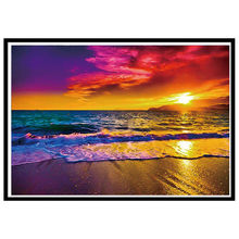Sunset Landscape 5D DIY Diamond Painting Cross Stitch Embroidery Rhinestone Pasted Hands-on Production Home Decorative Paintings(China)