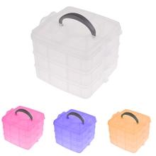 Fashion Multi Utility 3 Layer Plastic Jewelry Box Case Nail Art Craft Makeup Jewelry Storage Case Organizer E1IT Good Packing DM