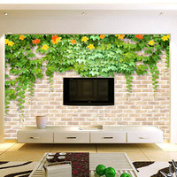 Stereo Wall Large Mural 3D Fake Brick Leaves TV Setting Wall Of The Sitting Room TV