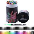 60 шт. цветов, художественные маркеры для рисования, акварельные ручки с двумя наконечниками, кисть для каллиграфии, школьные принадлежности