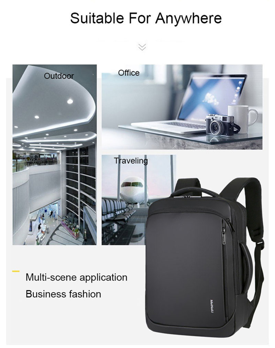 17 Inch Laptop Backpack 15.6 Mens Male Backpacks Business Notebook Mochila Waterproof Back Pack USB Charging Bags Travel Bagpack (11)