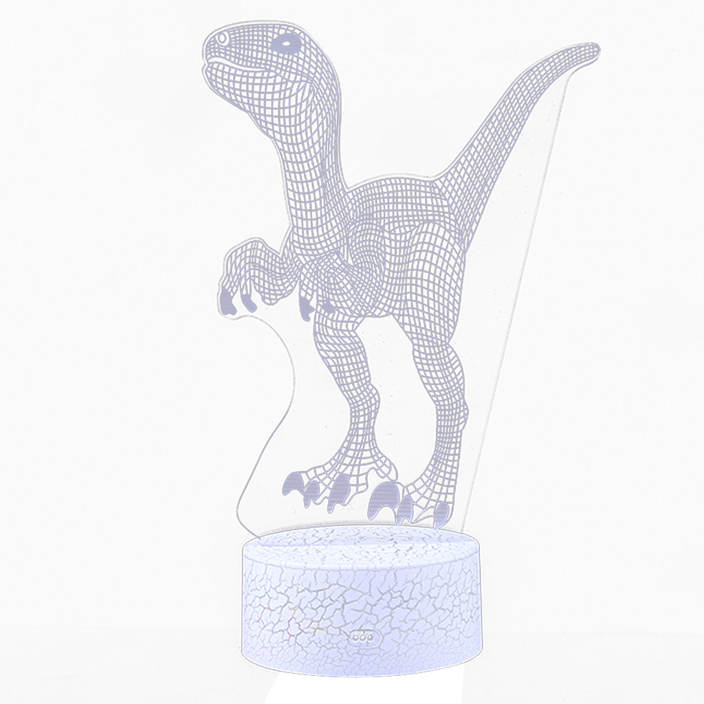 Dinosaur LED 3D Illuminated Lamp Optical Desk Night Light With Changing LED Changing Novelty Creative Led Desk lamp Decorations