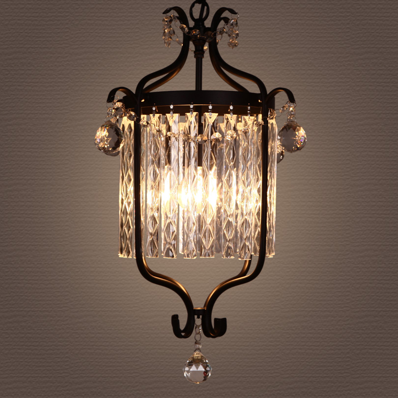 American Crystal Chandelier Retro Restaurant Hallway Corridor Staircase Staircase Hanging Lighting Strengthening Sinews And Bones Lights & Lighting