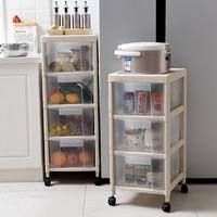 Japan Style Organizadora Storage Box Kitchen Shelf Drawer Multi floor Vegetable Basket Plastic Glossy Rectangle Eco friendly|Storage Boxes & Bins| |  -