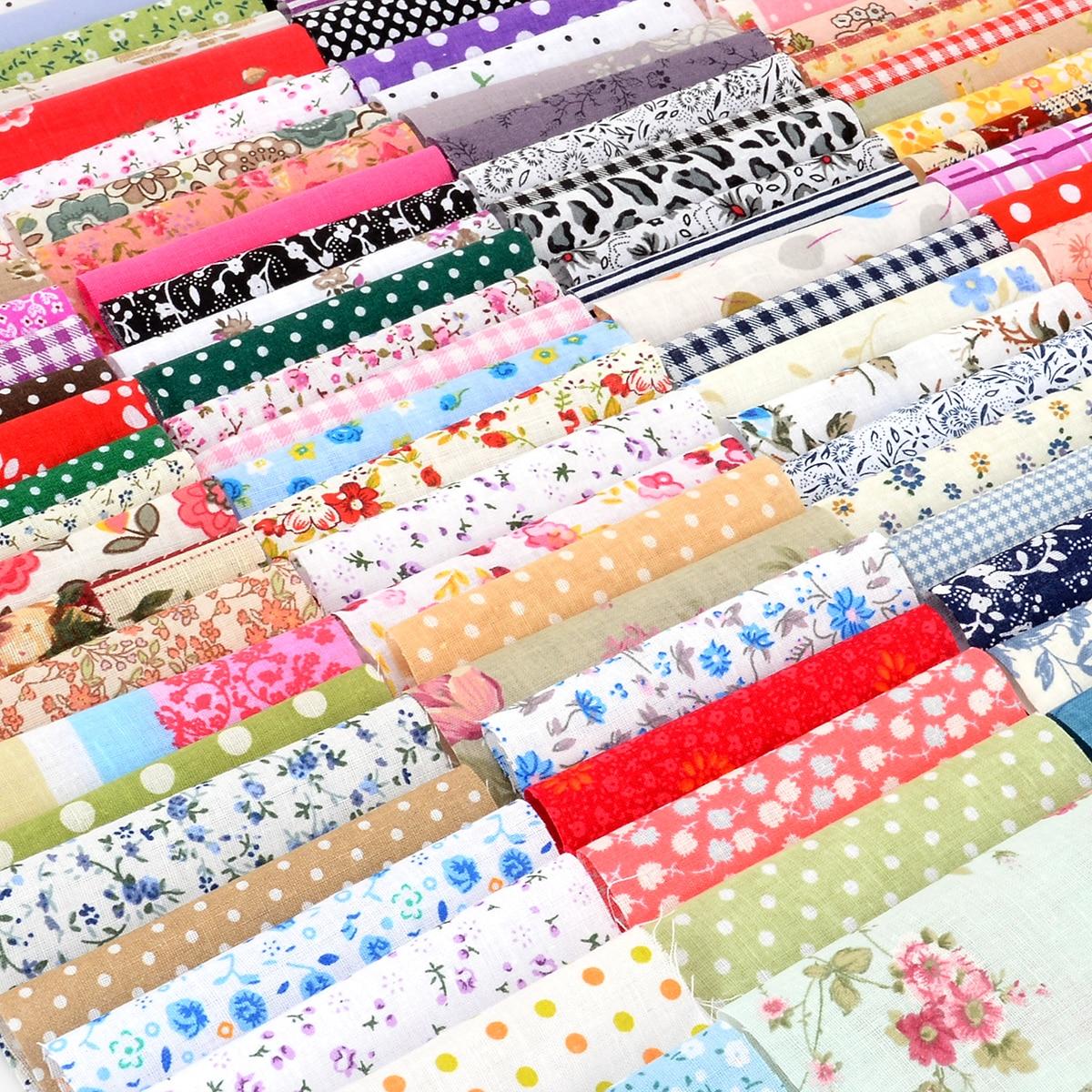 100 pçs diy costura boneca estofando retalhos sacos de pano têxtil 10x10cm quadrado floral algodão tecido artesanato