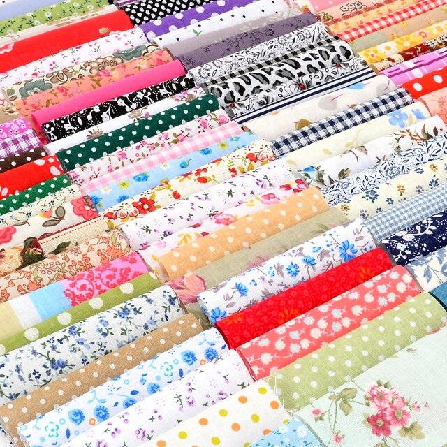 100 pcs DIY Búp Bê May Quilting Chắp Vá Dệt Vải Túi 10x10 cm Vuông Hoa Bông Vải Thủ Công Mỹ Nghệ