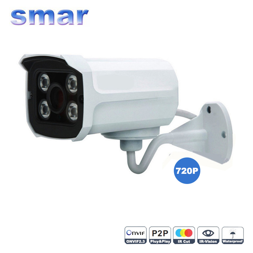 Onvif Mini IP Camera Outdoor H.264 720P/960P Bullet IP Camera Waterproof IR Night Vision 1.0MP/1.3MP HD Network Camera P2P Cloud free shipping wholesale h 264 home security ir outdoor p2p cloud bullet ip camera 1 0mp hd 720p