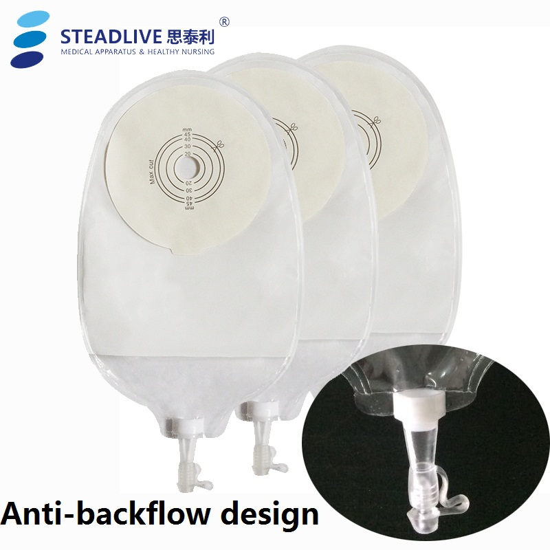 20pcs Lot One Pc Drainage Urostomy Bags Valve Closure Anti Backflow Design Piece Stoma Care Pouch With High Capacity