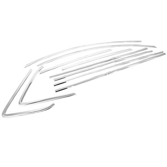 Chrome Styling Side Window Top Trim Set for Mazda 3 2009