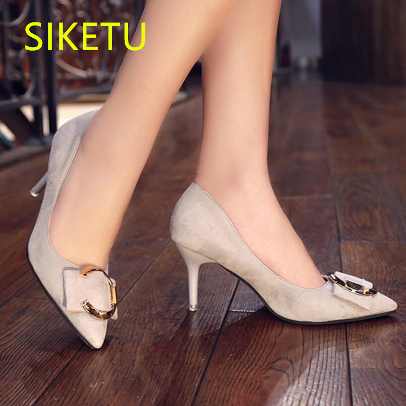SIKETU 2017 Free shipping high heels shoes Career sex women shoes Fashion Wedding shoes Casual wind g002 siketu 2017 free shipping spring and autumn women shoes fashion sex high heels shoes red wedding shoes pumps g107