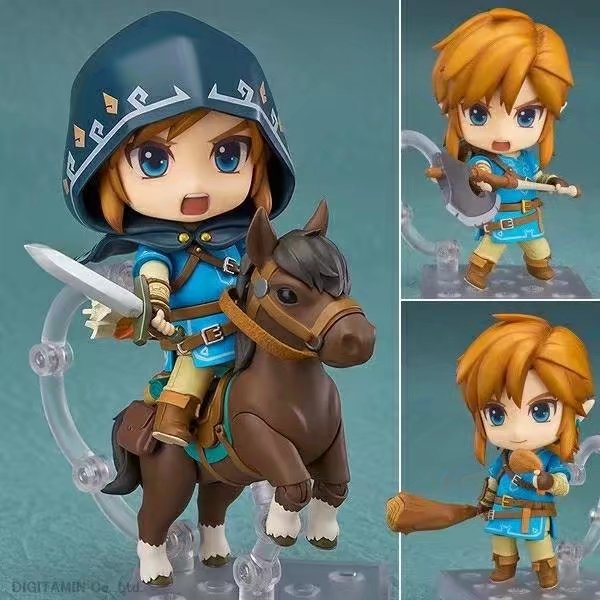 NEW hot 10cm Legend of Zelda horse riding Breath of the Wild Link Action figure toys collection doll Christmas gift with boxNEW hot 10cm Legend of Zelda horse riding Breath of the Wild Link Action figure toys collection doll Christmas gift with box