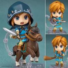 Nova quente 10cm zelda cavalo equitação respiração do elo selvagem figura de ação brinquedos coleção boneca presente natal com caixa