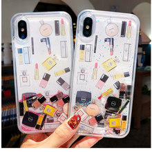 Dynamic Liquid Case For X XS XR Max 7 8 Plus 6 6s 6plus Funny Cosmetic Icon Quicksand Capinha iphone xs max