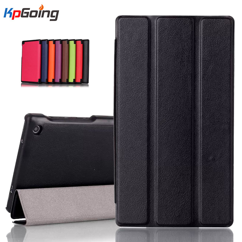 PU Leather Cover Stand Case for Lenovo Tab 2 A7 30 A7-30 A7-30HC A7-30TC A7-30DC 7 Tablet Cover Bag 3 Folding Flip Folio Case for lenovo tab 2 a7 30 2015 tablet pc protective leather stand flip case cover for lenovo a7 30 screen protector stylus pen