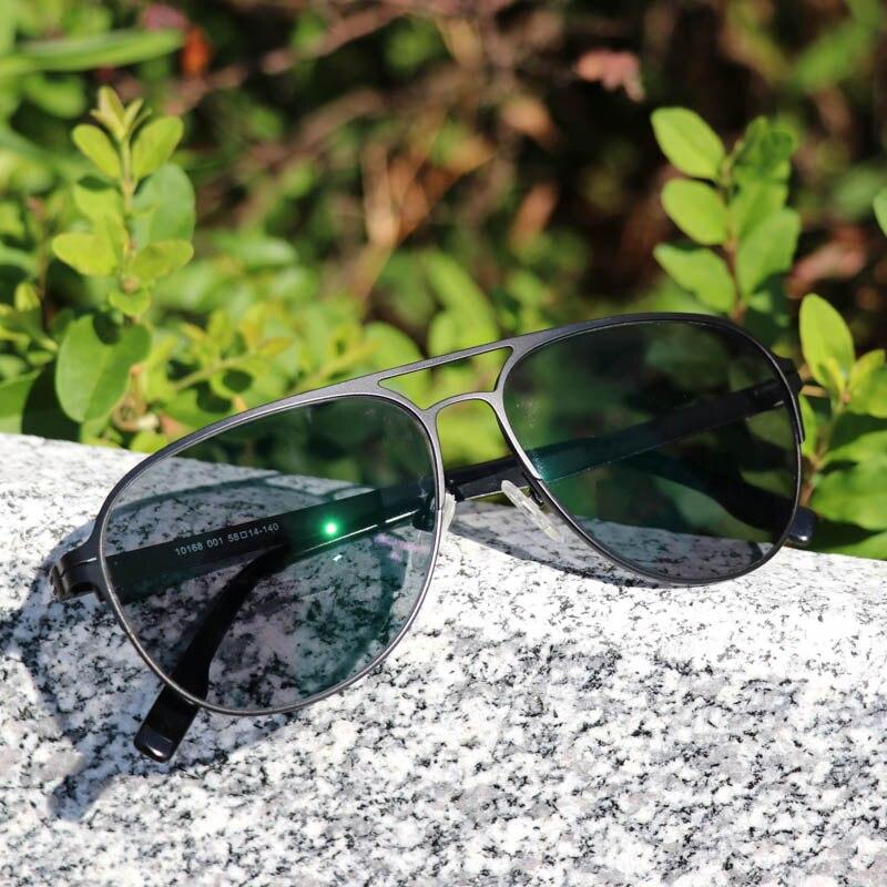 Image 4 - Myopia Sunglasses Finished Men Women Myopia Eyeglasses Frame with CR39 Sun Photochromism gray lens prescription Myopia Eyewear-in Men's Eyewear Frames from Apparel Accessories