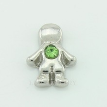 Hot selling 10PCS little boys august birthstone floating charms for glass floating lockets