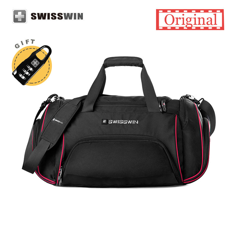 Swiss Travel Bag Male Large Capacity Lightweight Messenger Shoulder Women Portable Duffel Carry On In Bags From Luggage