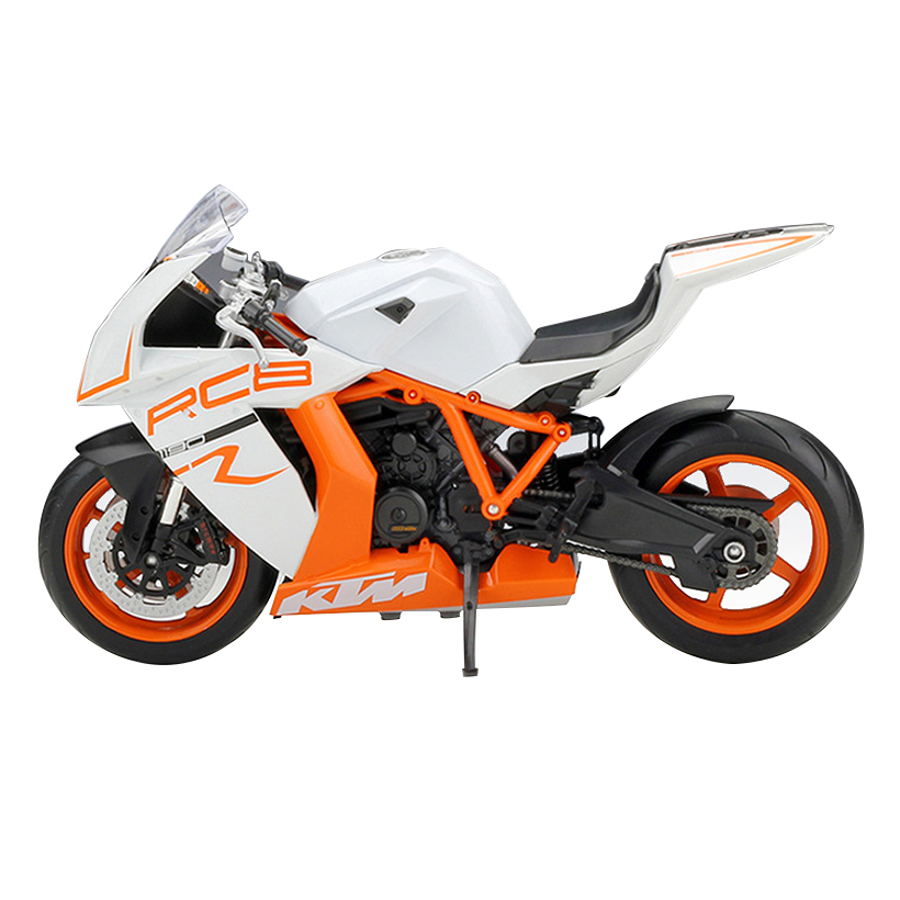 W Model Of Alloy Motorcycle 1:10 KTM 1190 RC8 R Simulation Toys Hobby Collection Gift Toy For Children Genuine Racing Car
